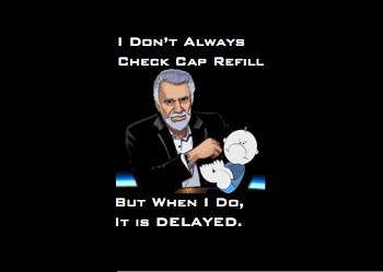 Delayed Cap Refill